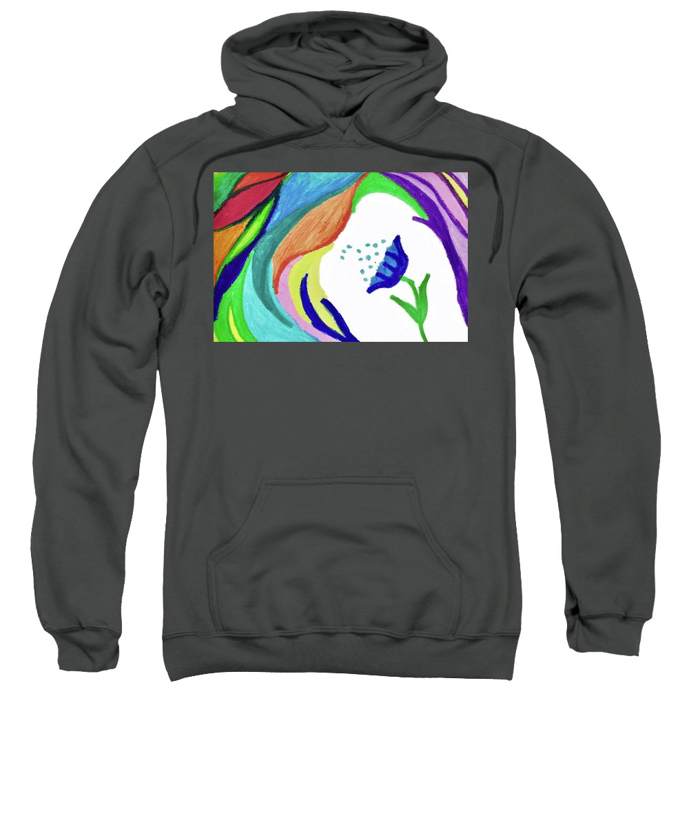 Abstact Sweatshirt featuring the painting UnEarthly by Della McGee