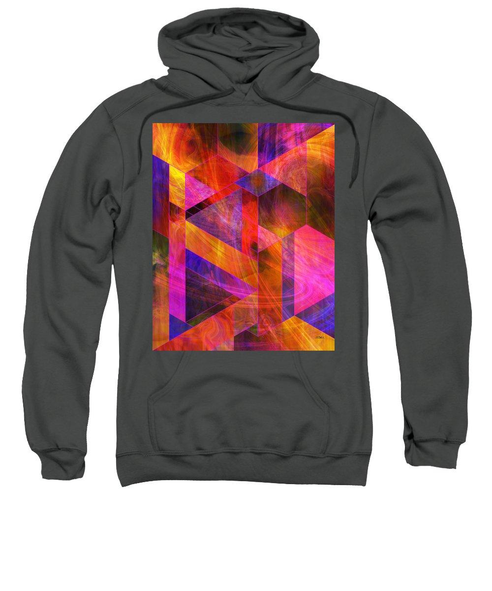 Wild Fire Sweatshirt featuring the digital art Wild Fire by John Robert Beck