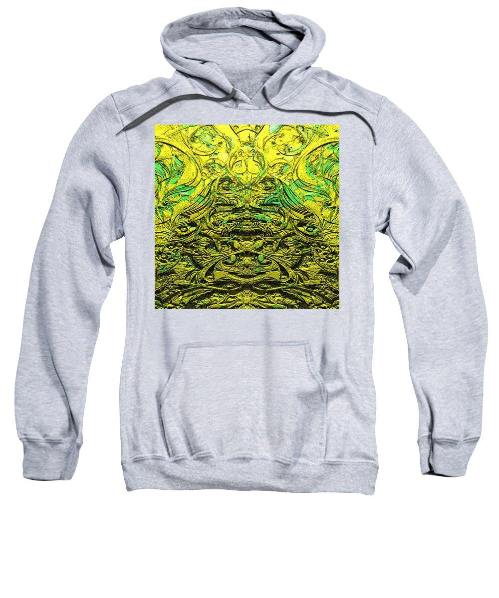 Abstract Sweatshirt featuring the digital art Aluminumcoffee 1 by Zac AlleyWalker Lowing