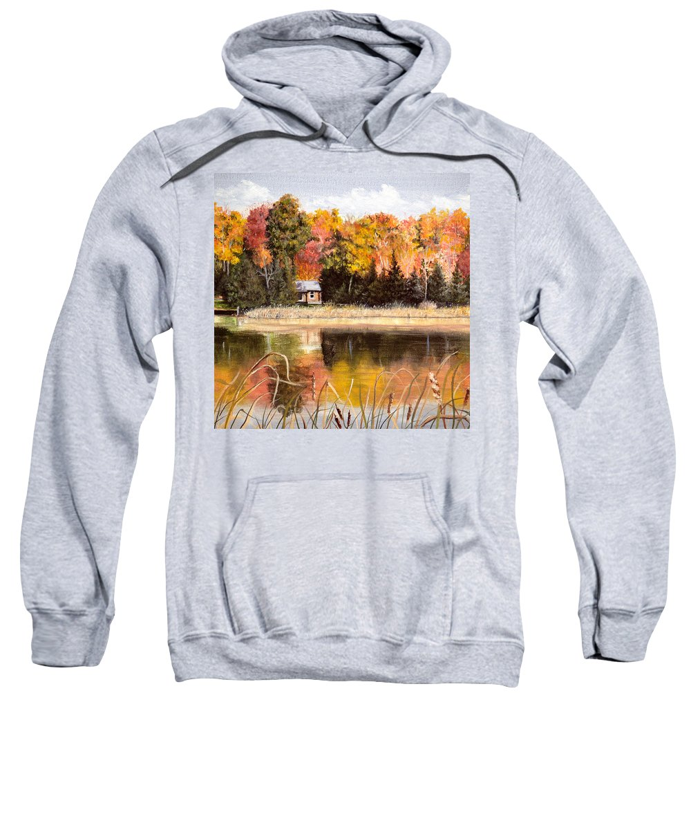 Autumn Sweatshirt featuring the painting Autumn Splendor by Vicky Path