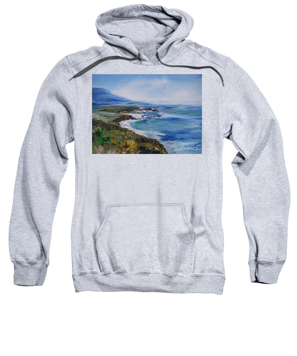 California Coast Sweatshirt featuring the painting Big Sur Coastline by Eric Schiabor