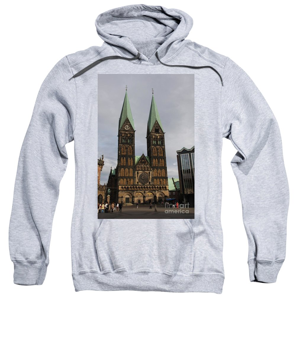 Cathedral Sweatshirt featuring the photograph Cathedral Bremen - Germany by Christiane Schulze Art And Photography