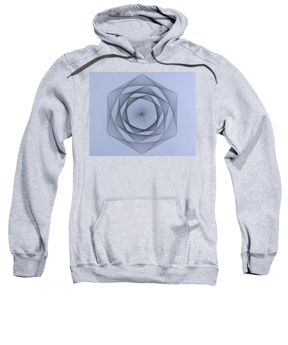 Jason Padgett Sweatshirt featuring the drawing  Energy Spiral by Jason Padgett