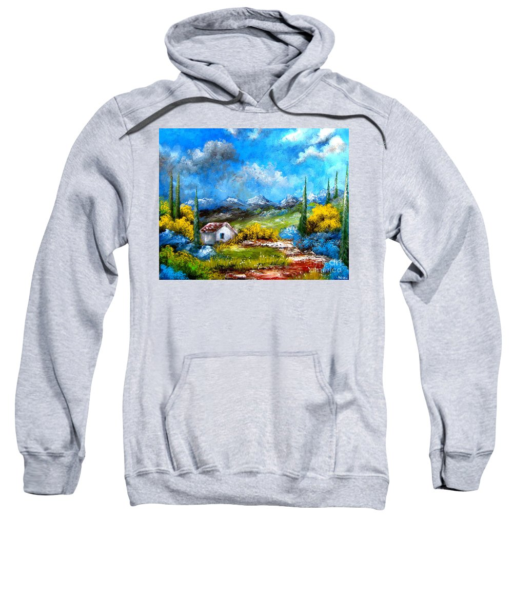 Sky Sweatshirt featuring the painting If I Were The Sky by Patrice Torrillo