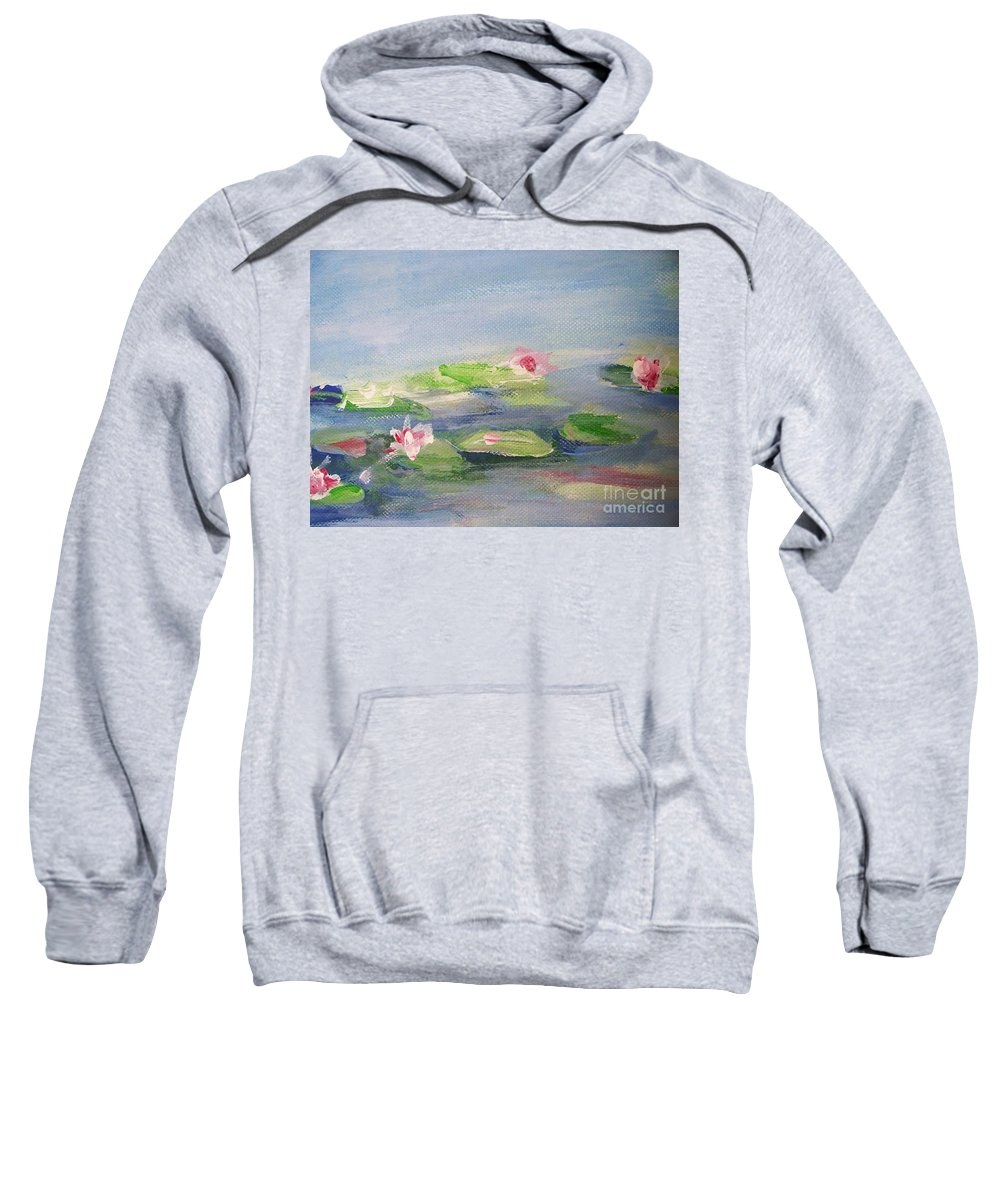 Photograph Sweatshirt featuring the painting Impressionistic Lilies Monet by Eric Schiabor