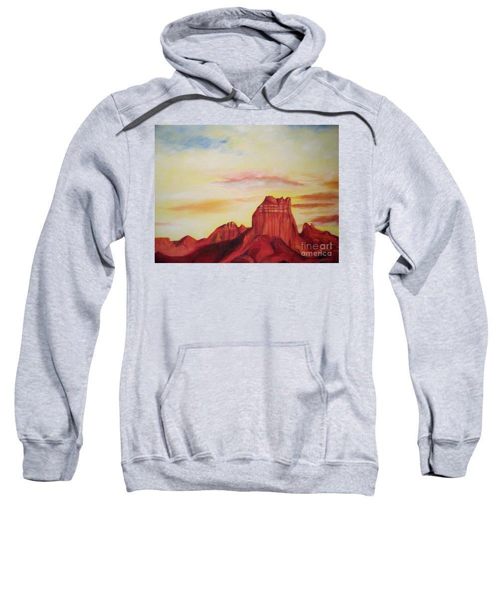 Western Sweatshirt featuring the painting Sedona Az by Eric Schiabor