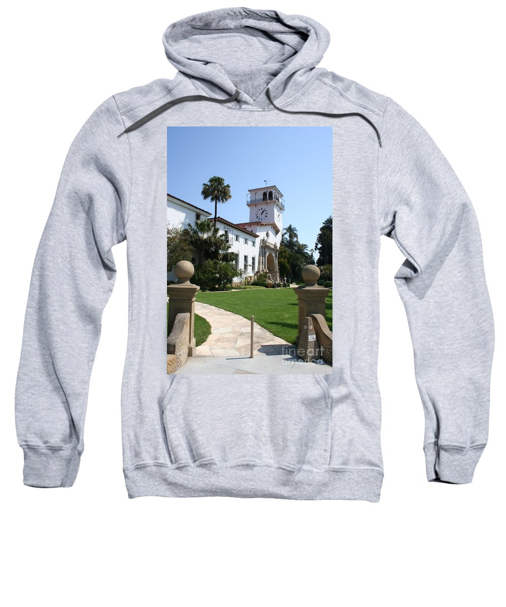 Courthouse Sweatshirt featuring the photograph Santa Barbara Courthouse by Christiane Schulze Art And Photography