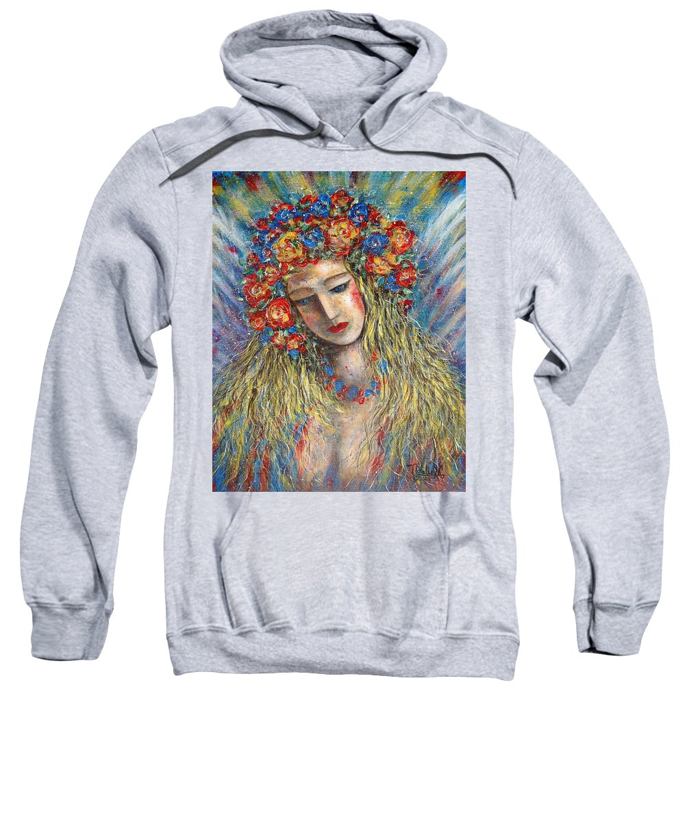 Painting Sweatshirt featuring the painting The Loving Angel by Natalie Holland