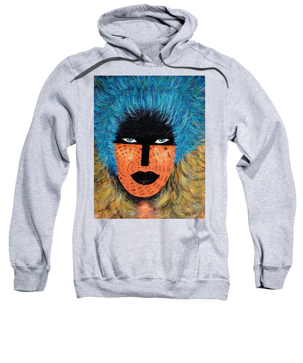 Woman Sweatshirt featuring the painting Viva Niva by Natalie Holland