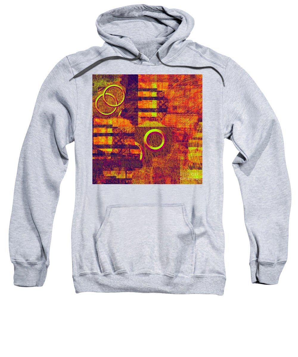Abstract Sweatshirt featuring the digital art 0482 Abstract Thought by Chowdary V Arikatla