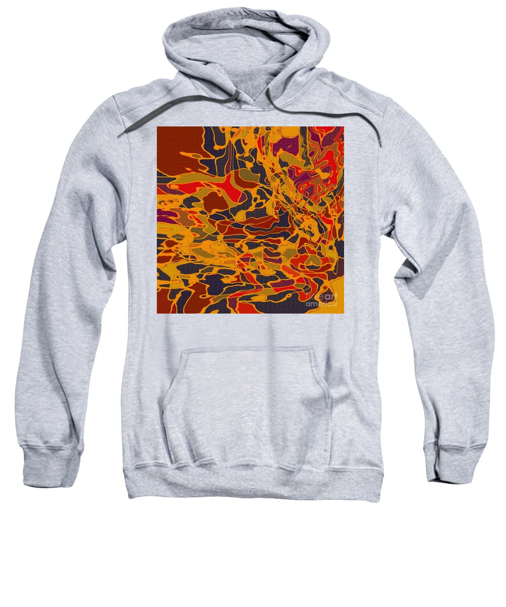 Abstract Sweatshirt featuring the digital art 0657 Abstract Thought by Chowdary V Arikatla