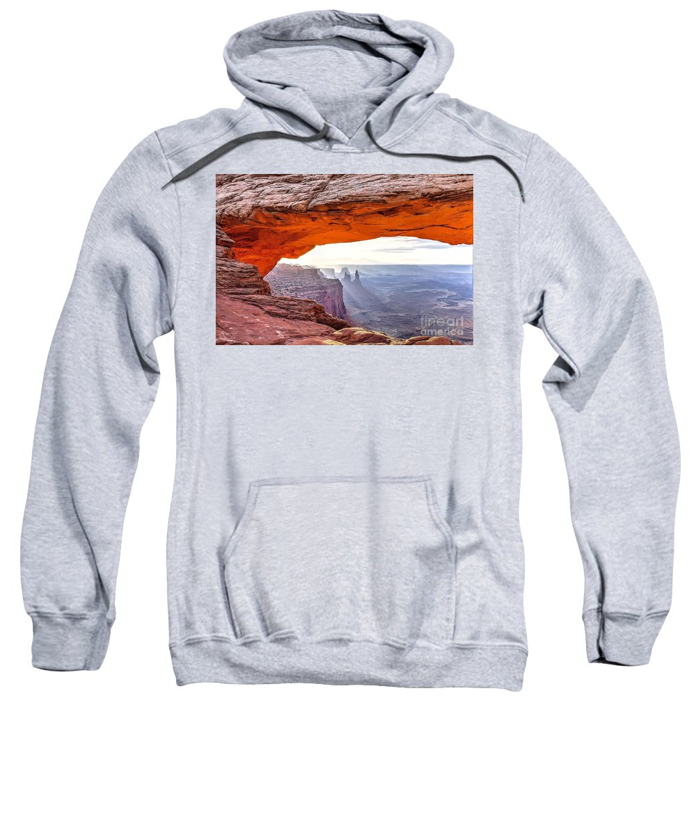 Mesa Sweatshirt featuring the photograph 0710 Mesa Arch by Steve Sturgill