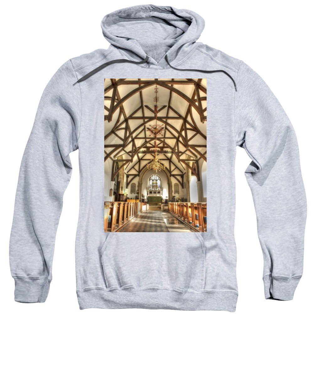 Plaxtol Church Sweatshirt featuring the photograph  Plaxtol Church by Dave Godden