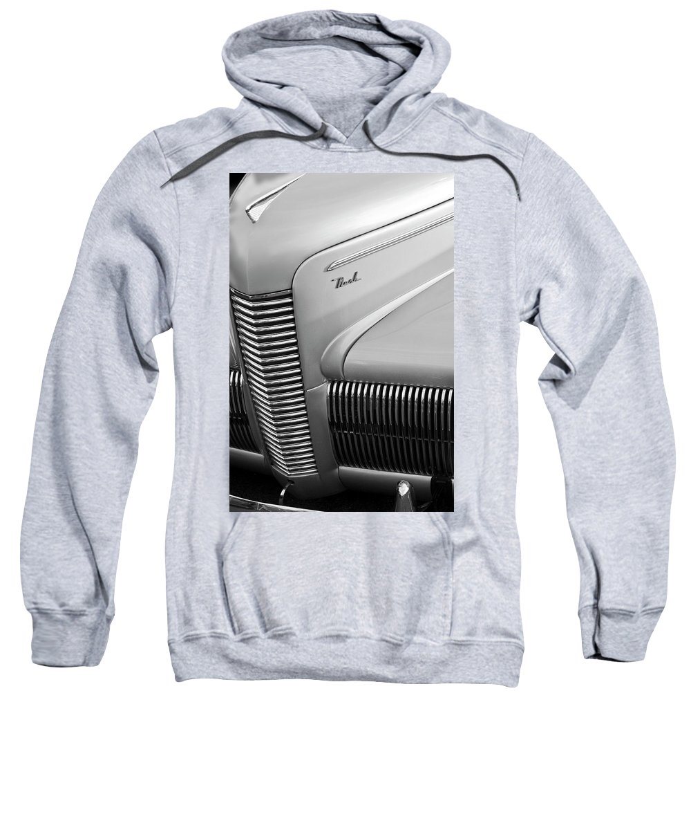 1940 Chevrolet Nash Sweatshirt featuring the photograph 1940 Nash Grille by Jill Reger