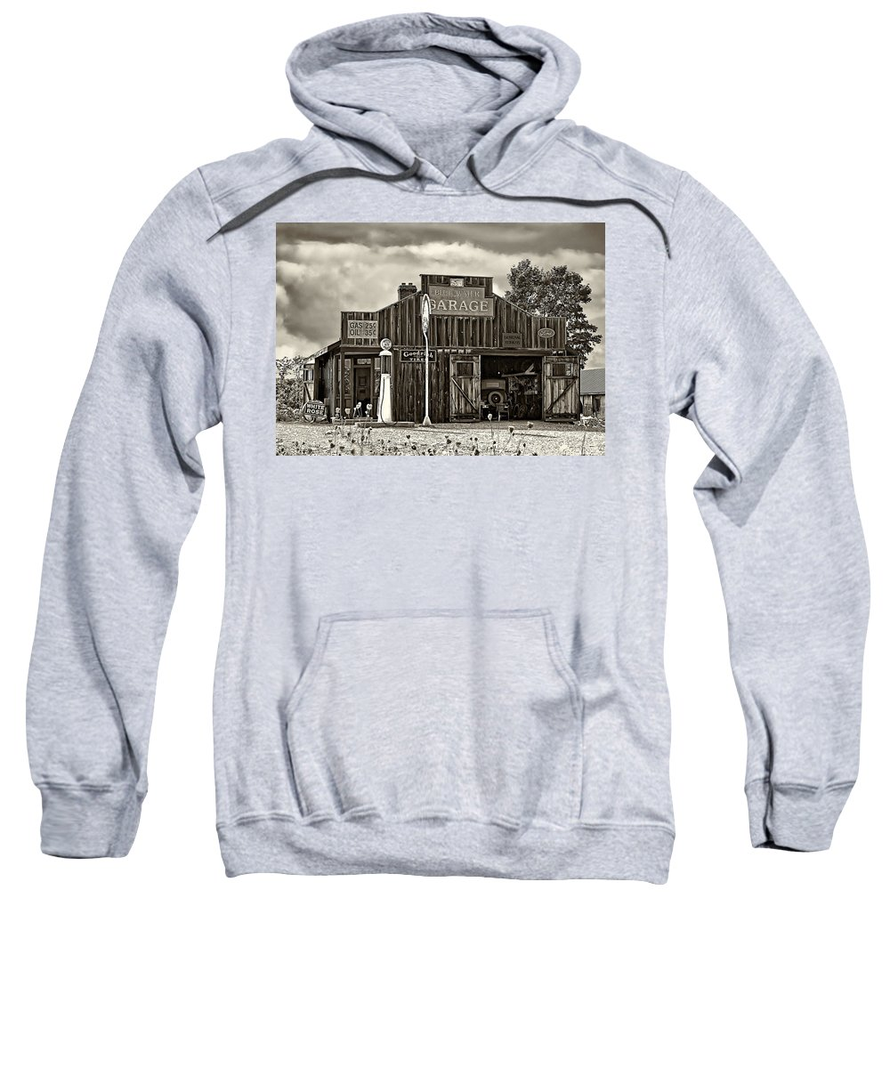 The Past Sweatshirt featuring the photograph A Simpler Time Sepia by Steve Harrington