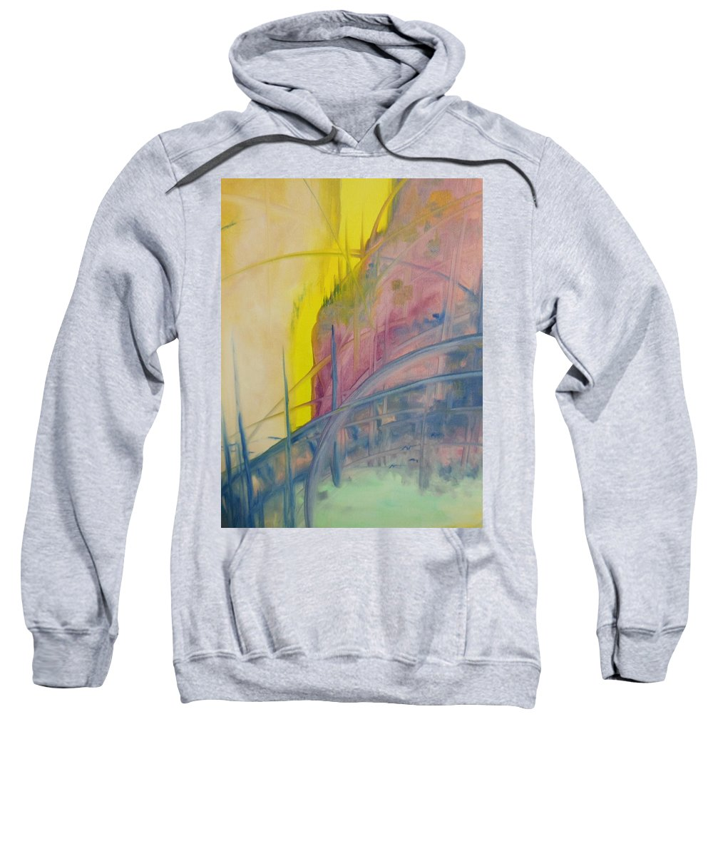 Abstract Sweatshirt featuring the painting Abstracat Exhibit by Lord Frederick Lyle Morris - Disabled Veteran