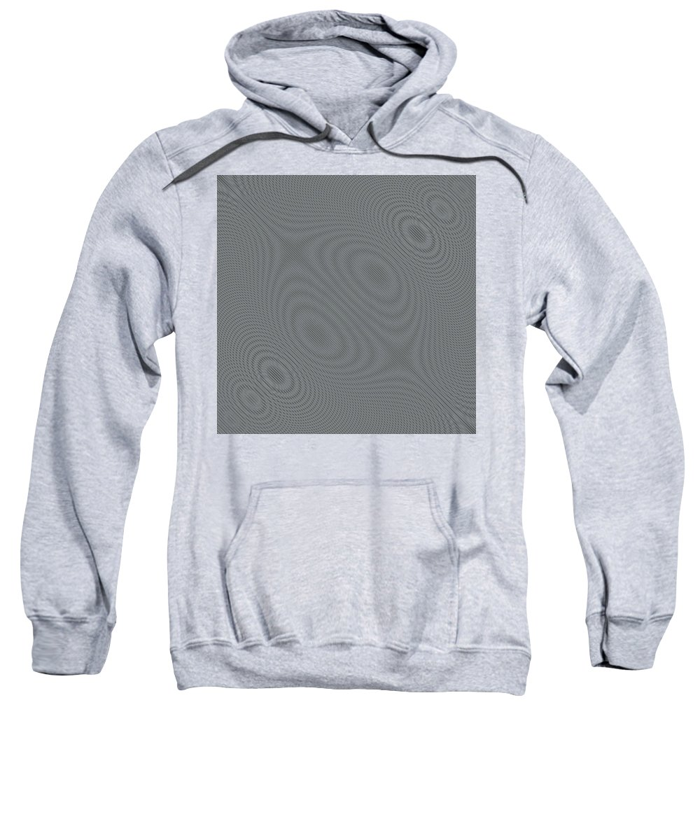 Abstract Sweatshirt featuring the digital art Abstract Hypnotic Lines by Nenad Cerovic