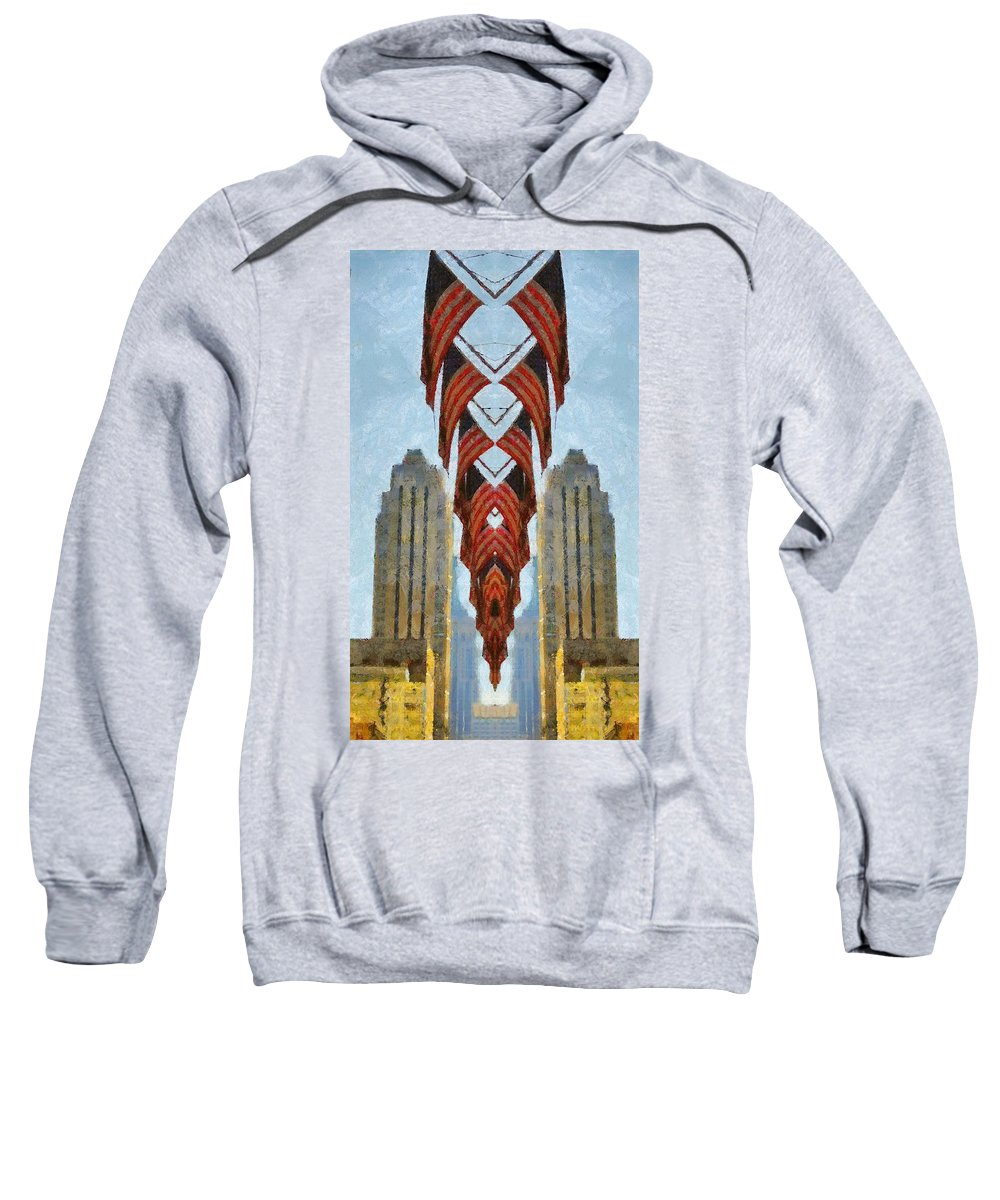 American Architecture Sweatshirt featuring the painting American Architecture by Dan Sproul