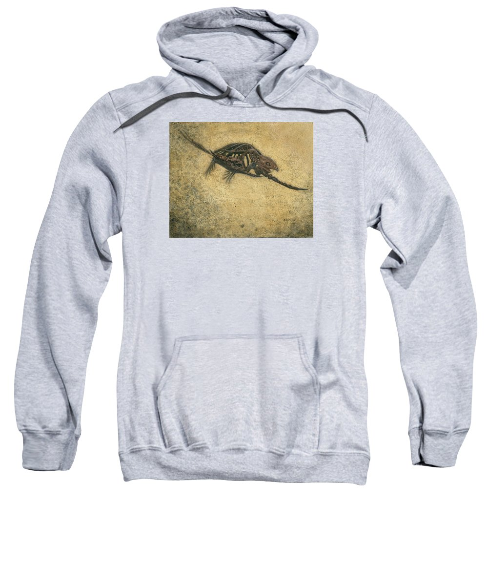 Turtle Sweatshirt featuring the painting Ancient Turtle by Sherryl Lapping