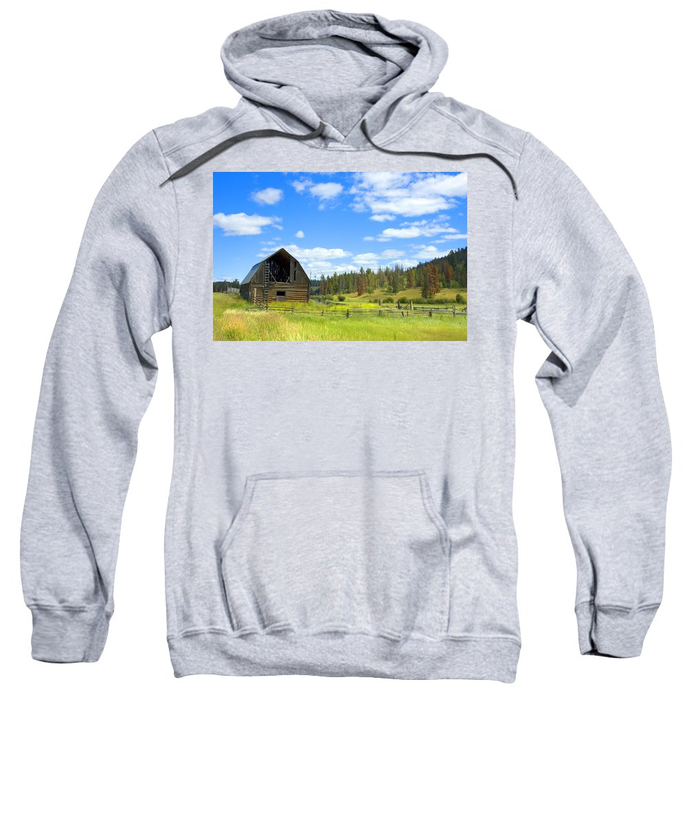 Barn Sweatshirt featuring the photograph Barn by Michele Wright