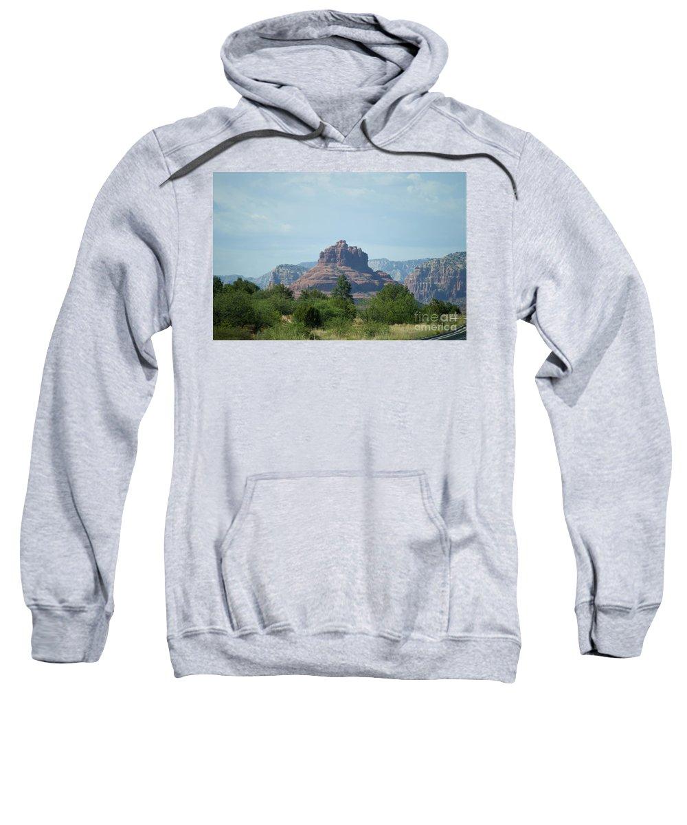 Bell Rock Sweatshirt featuring the photograph Bell Rock Sedona by Pamela Walrath