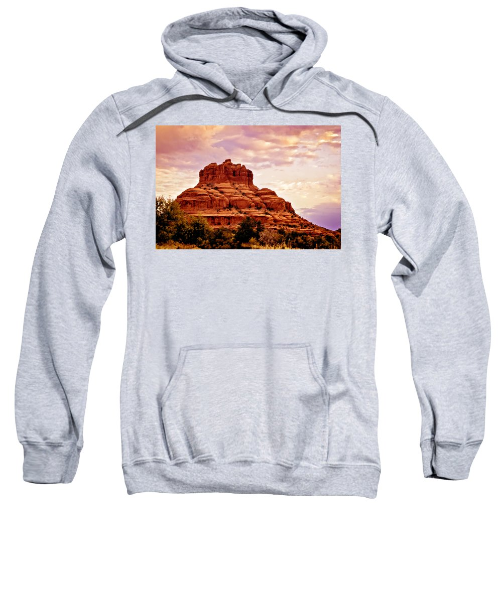 Bell Rock Sweatshirt featuring the painting Bell Rock Vortex Painting by Bob and Nadine Johnston