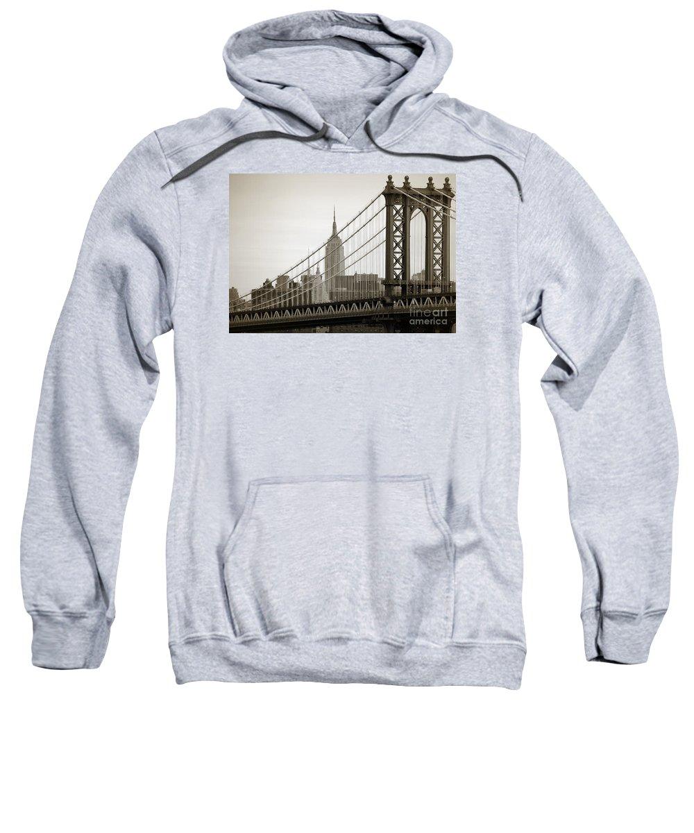 Manhattan Bridge Sweatshirt featuring the photograph Bridge From The Bridge by RicardMN Photography