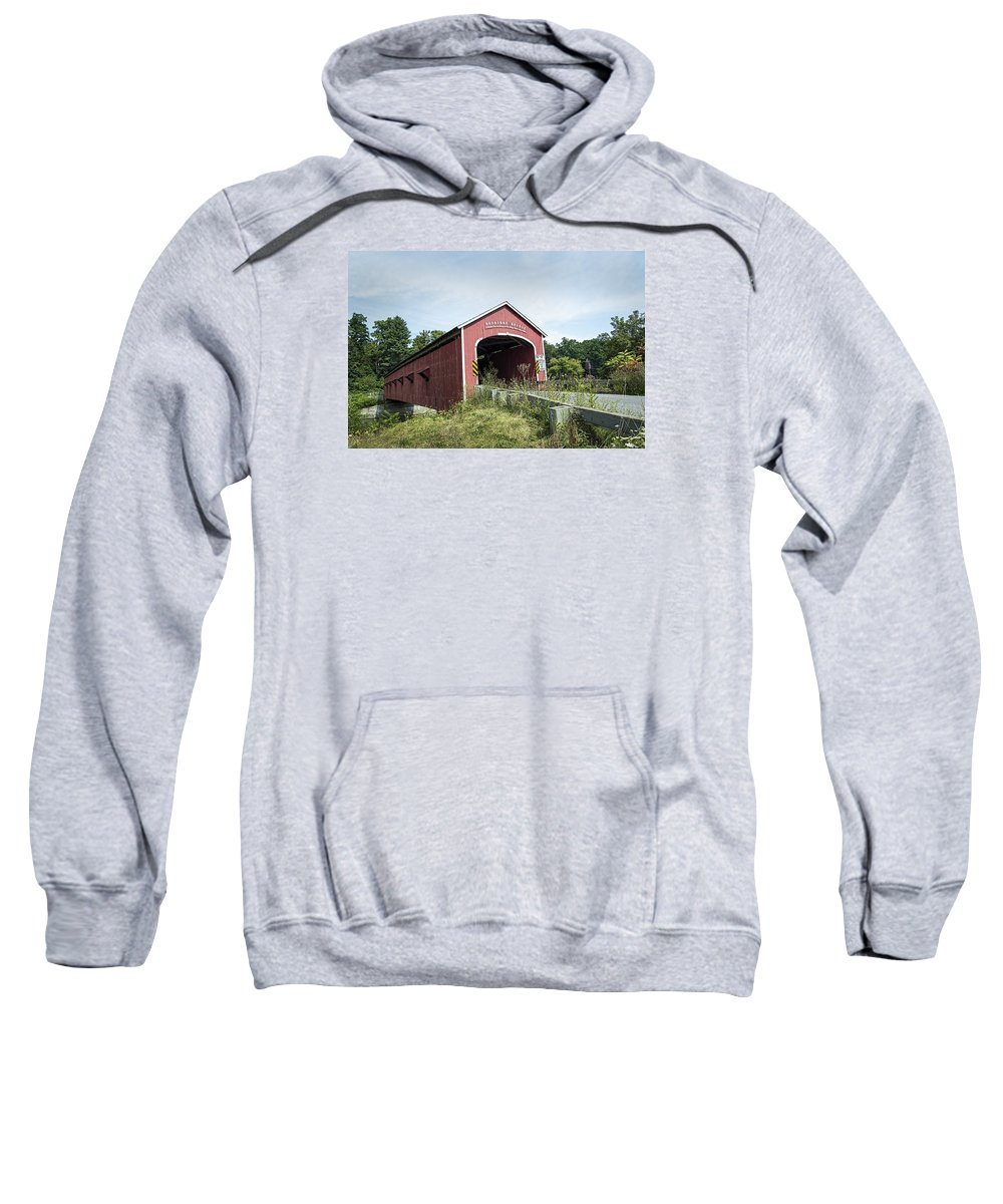 Bridge Sweatshirt featuring the photograph Buskirk Covered Bridge by Ray Summers Photography