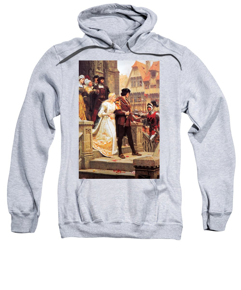 Edmund Sweatshirt featuring the painting Call To Arms by Philip Ralley