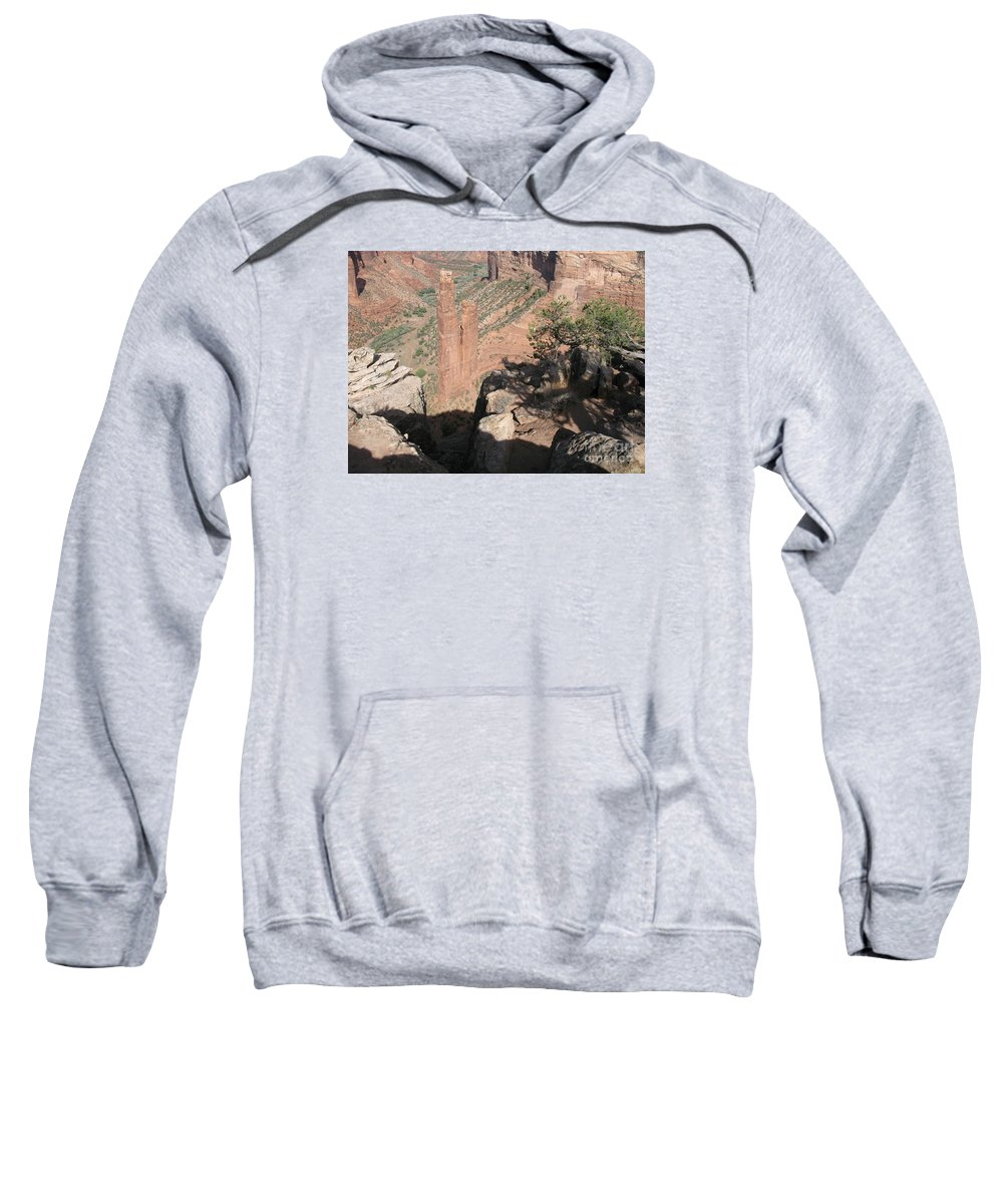 Canyon Sweatshirt featuring the photograph Canyon De Chelly Spider Rock by Christiane Schulze Art And Photography
