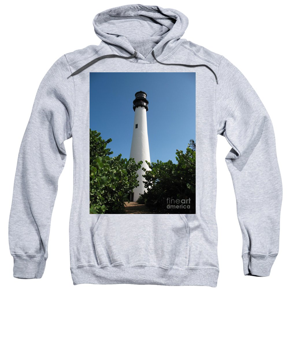 Lighthouse Sweatshirt featuring the photograph Cape Florida Light by Christiane Schulze Art And Photography