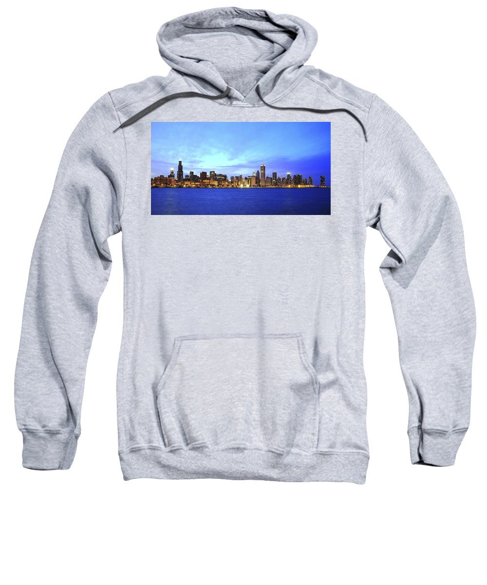 Chicago Sweatshirt featuring the photograph Chicago Skyline by Patrick Warneka