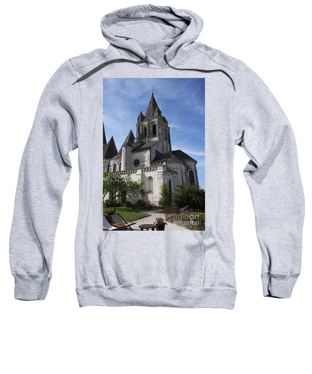 Church Sweatshirt featuring the photograph Church - Loches - France by Christiane Schulze Art And Photography