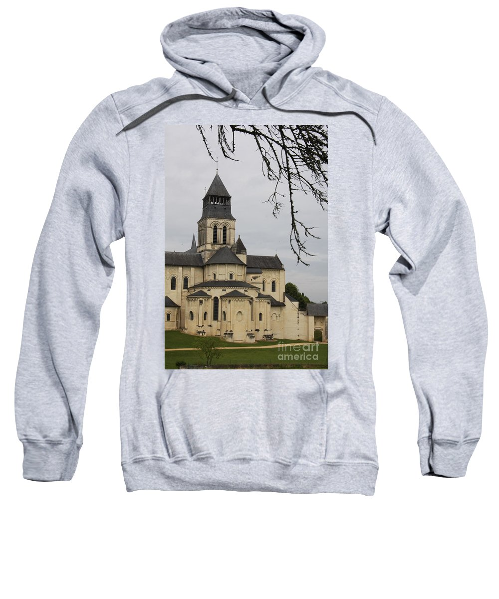 Cloister Sweatshirt featuring the photograph Cloister Fontevraud - France by Christiane Schulze Art And Photography