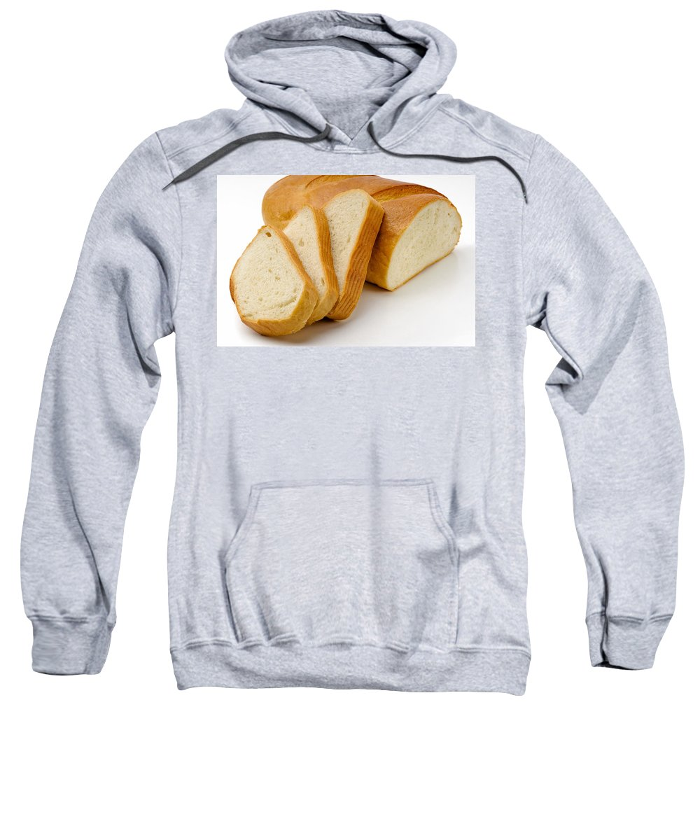 Background Sweatshirt featuring the photograph Close-up Of White Bread With Slices by Alain De Maximy