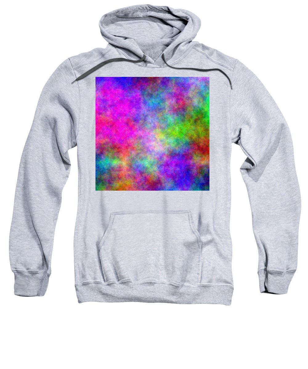 Abstract Sweatshirt featuring the digital art Colorful Abstract by Cassie Peters