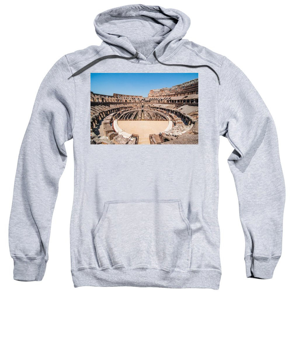 Amphitheater Sweatshirt featuring the photograph Colosseum by Amel Dizdarevic