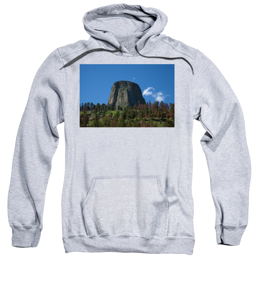 America Sweatshirt featuring the photograph Devil's Tower by Scott Sanders