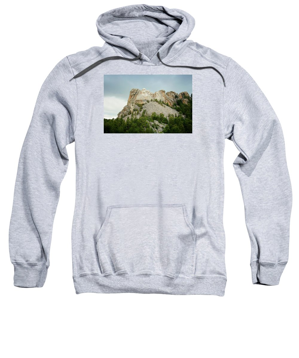 Mount Rushmore Sweatshirt featuring the photograph Dusk At Mount Rushmore by Susan McMenamin