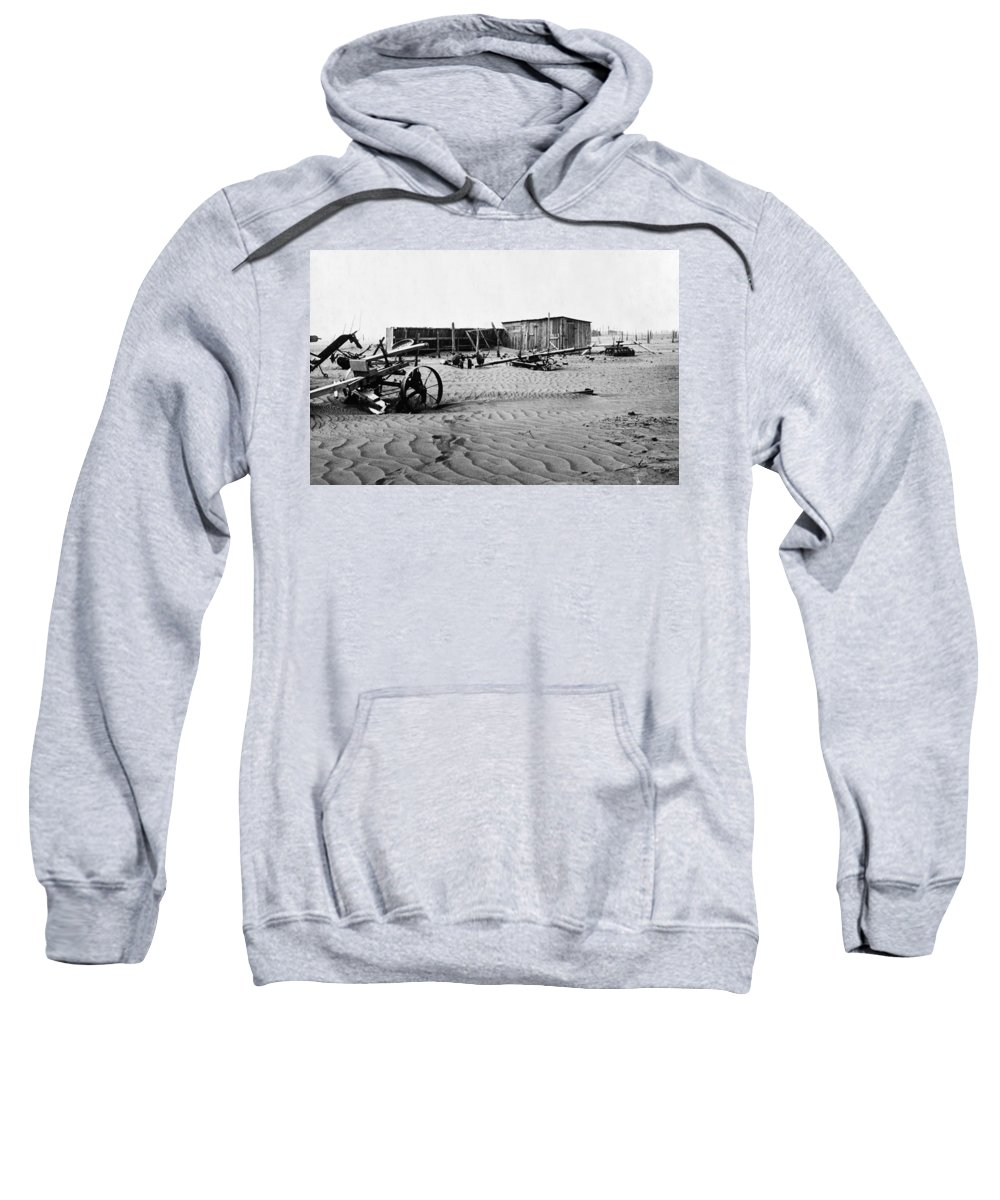 1930 Sweatshirt featuring the photograph Dust Bowl, C1936 by Granger