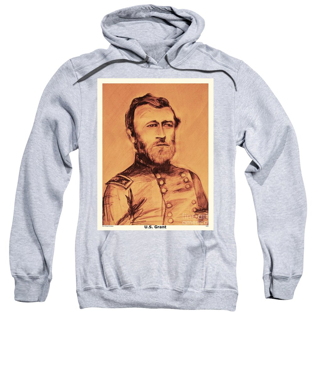 Grant Sweatshirt featuring the painting General Us Grant by Eric Schiabor