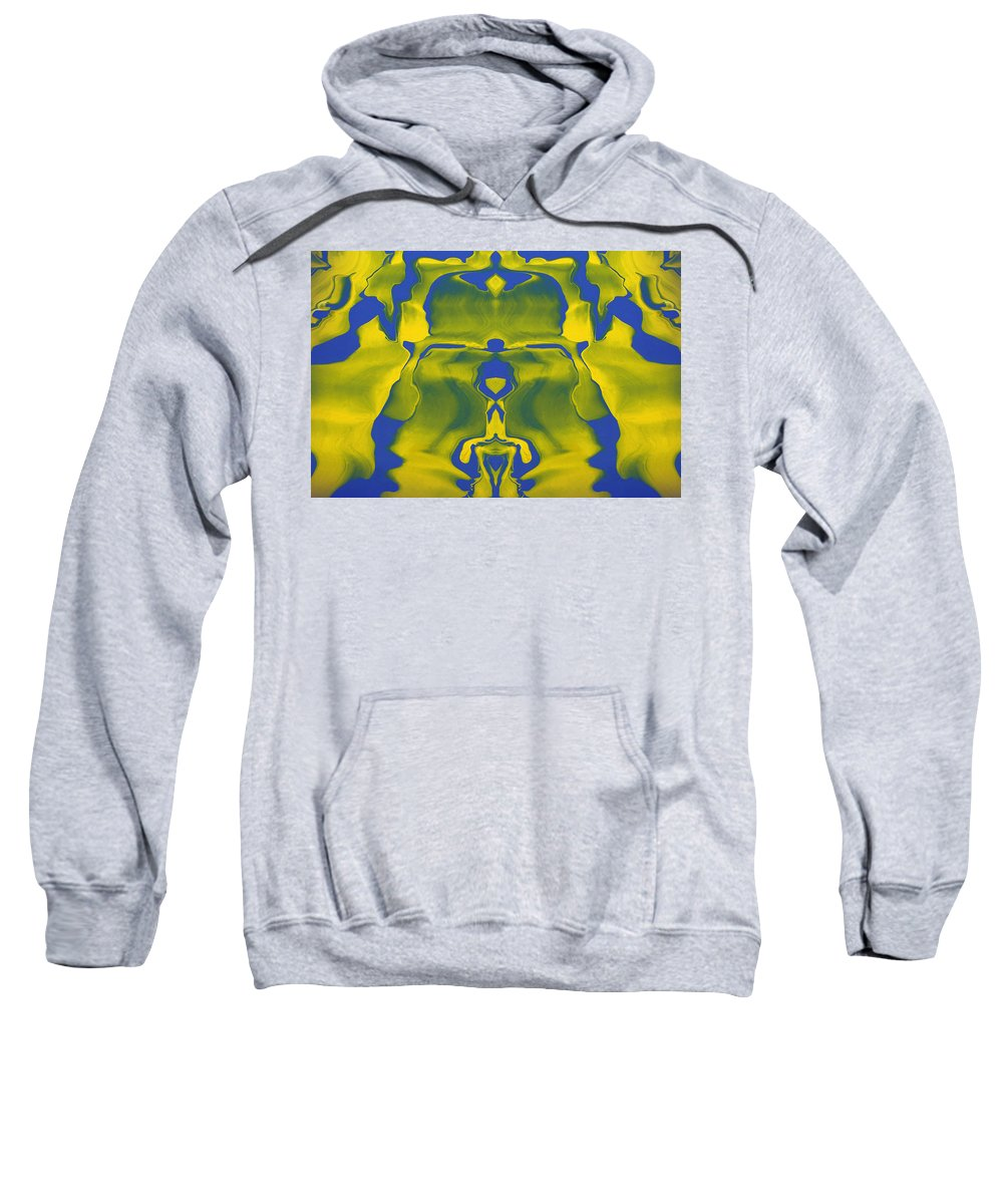 Original Sweatshirt featuring the painting Generations 5 by J D Owen