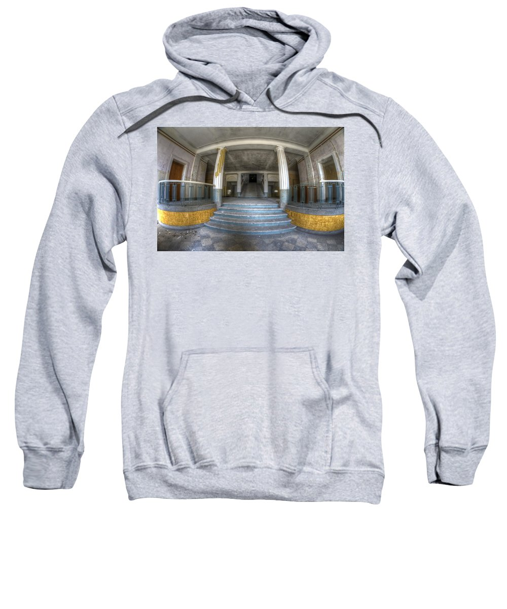 Abandoned Sweatshirt featuring the digital art Grand Entrance by Nathan Wright