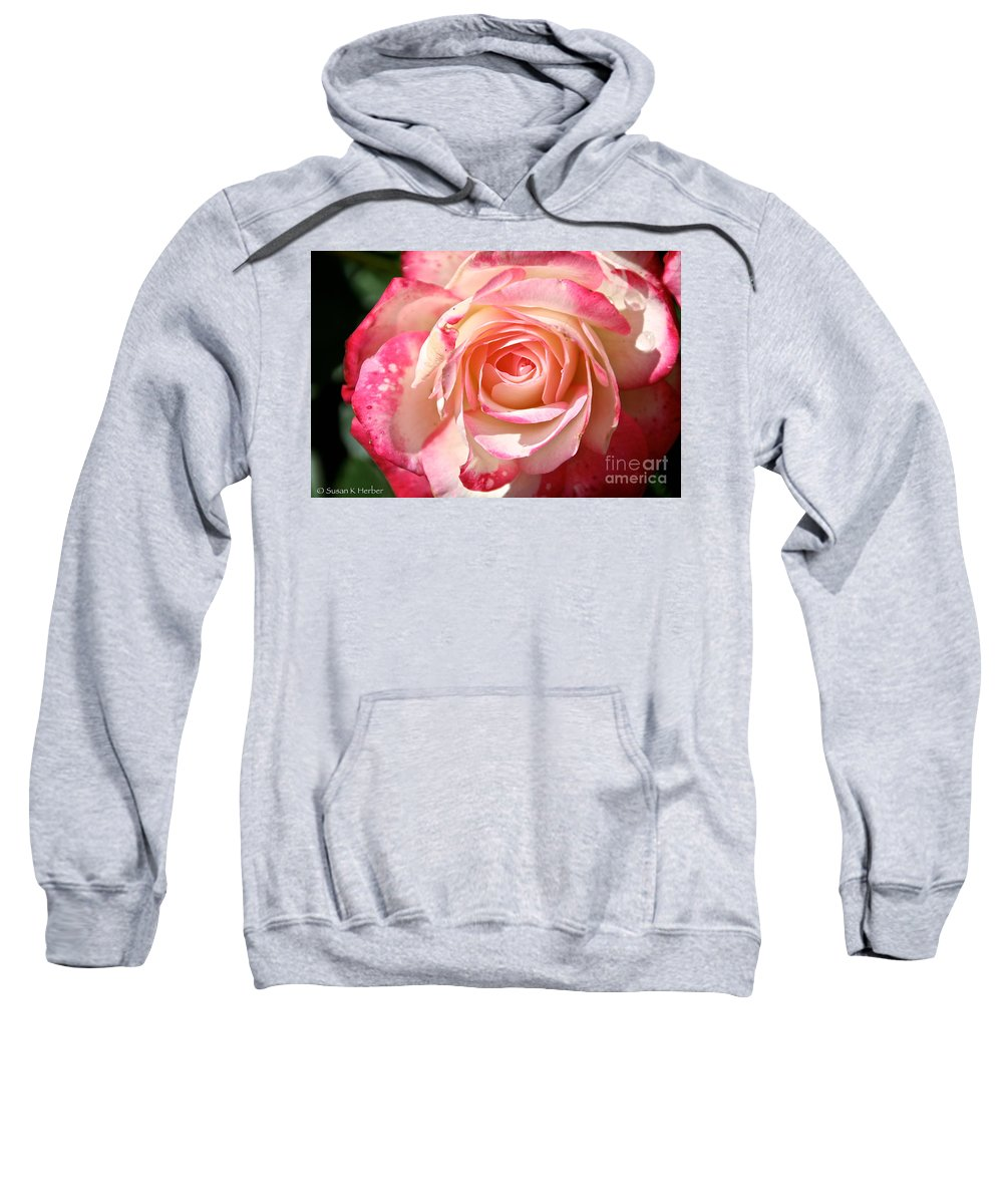 Flower Sweatshirt featuring the photograph Grandiflora by Susan Herber
