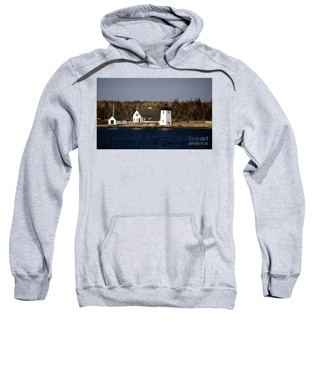 Me Sweatshirt featuring the photograph Grindel Point Lighthouse by Skip Willits