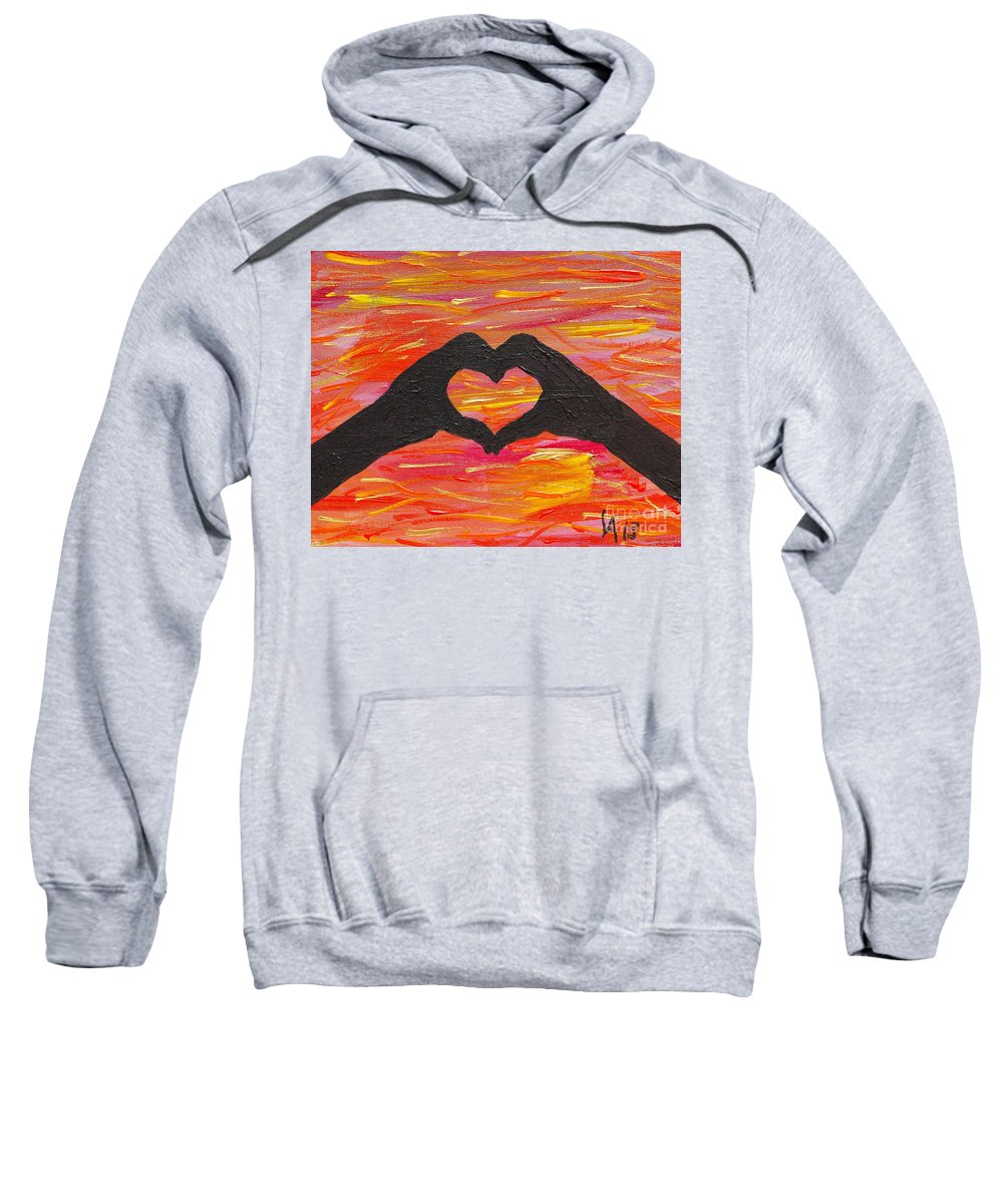 Hands Sweatshirt featuring the painting Hands Of Love by Lloyd Alexander