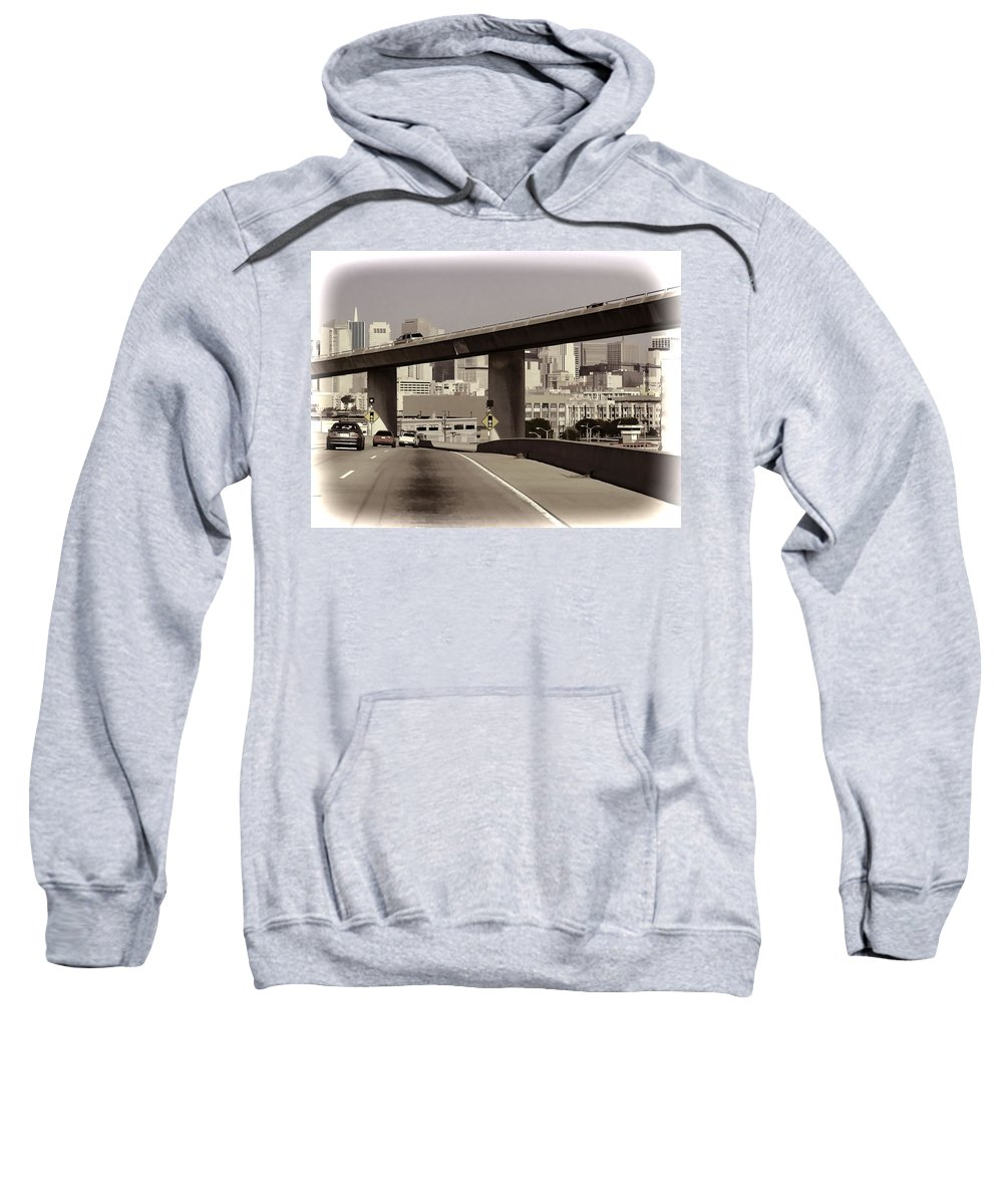 Cars Sweatshirt featuring the photograph Heading Into The Busy Part Of San Francisco by Ashish Agarwal