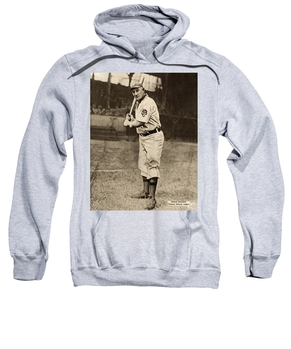 1909 Sweatshirt featuring the photograph Honus Wagner (1874-1955) by Granger