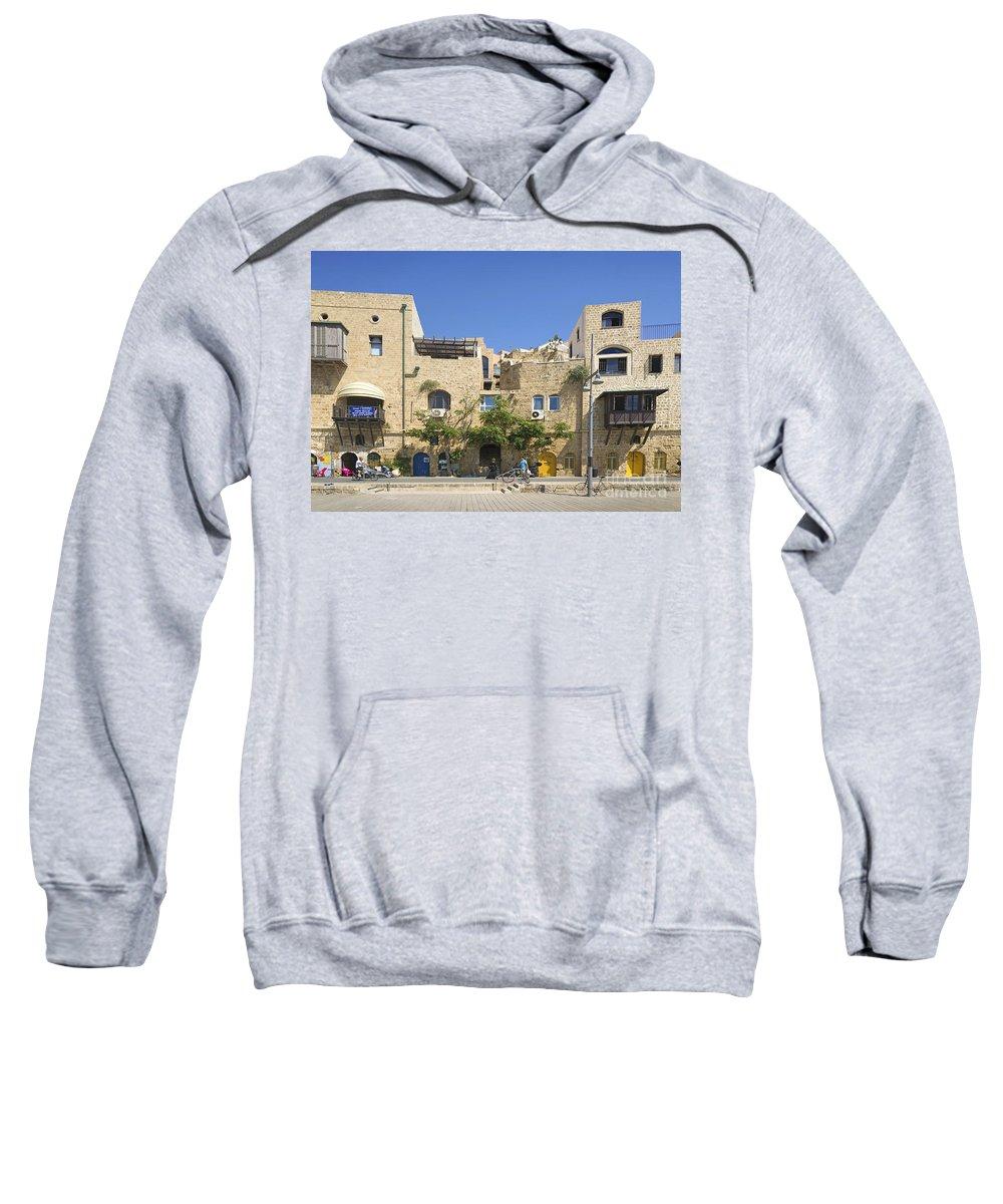 Architecture Sweatshirt featuring the photograph Houses In Jaffa Tel Aviv Israel by Jacek Malipan
