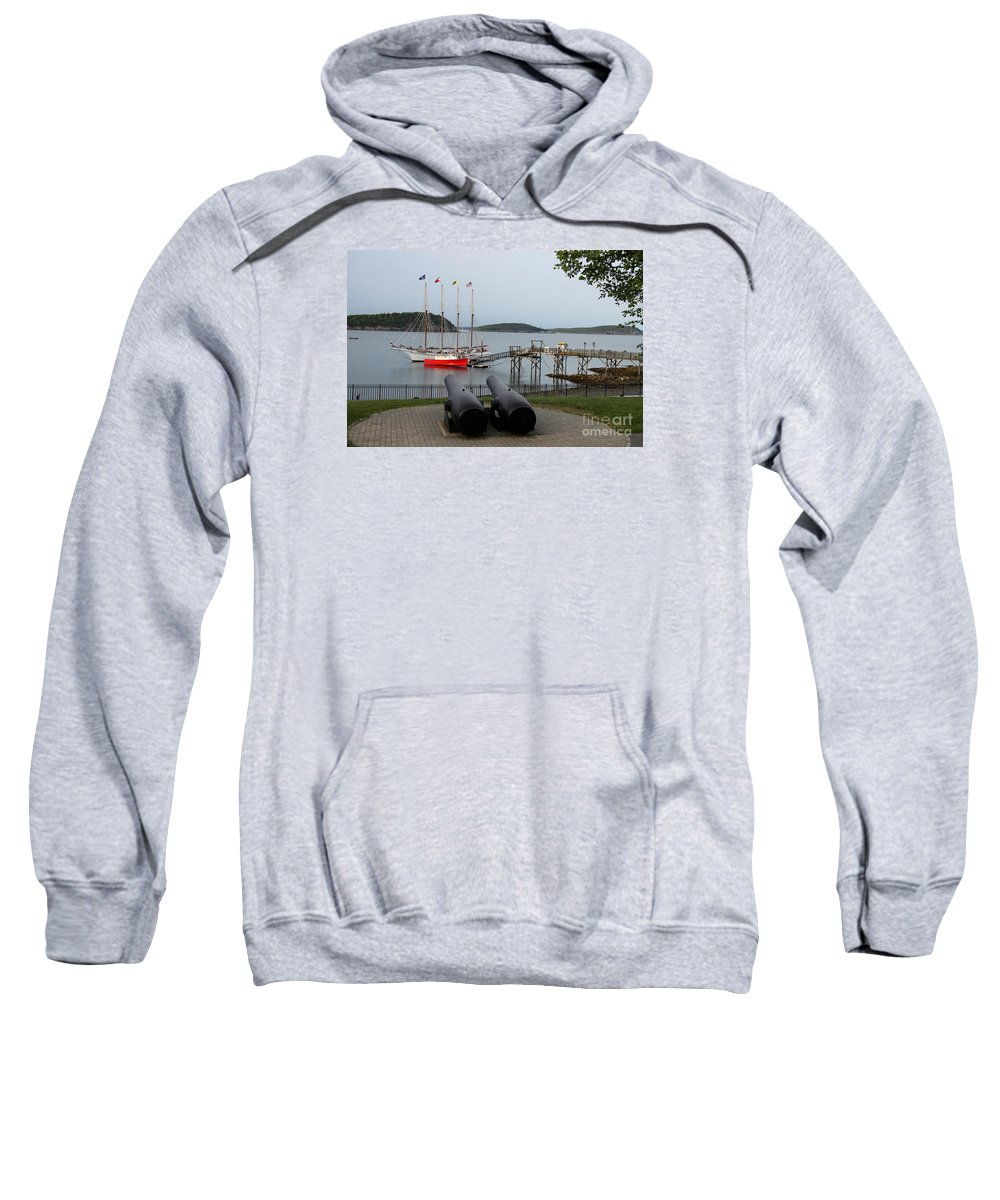 Schooner Sweatshirt featuring the photograph In The Line Of Fire by Christiane Schulze Art And Photography